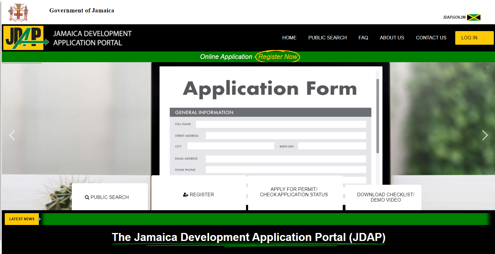 Jamaica Development Application Portal