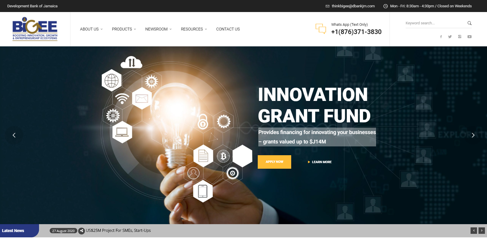 DBJ Microsite -  Boosting Innovation, Growth and Entrepreneurship Ecosystem (BIGEE)